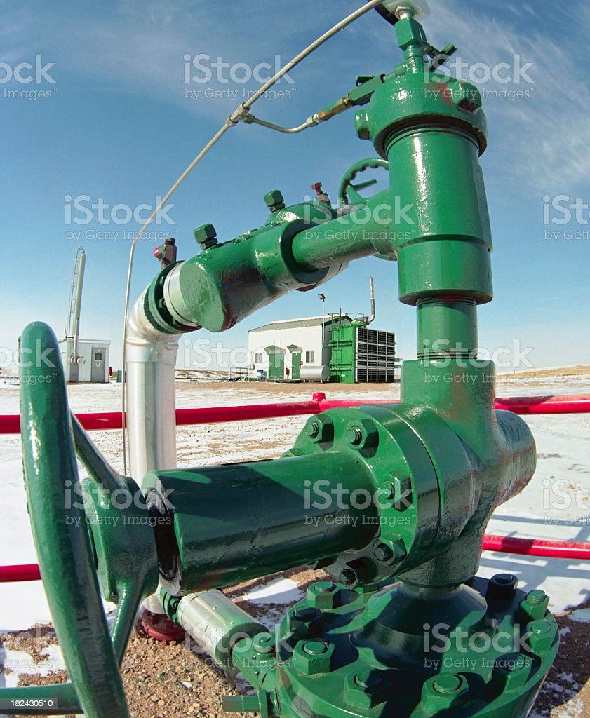 Compressor Shack viewed through the BOP Valve royalty-free stock photo