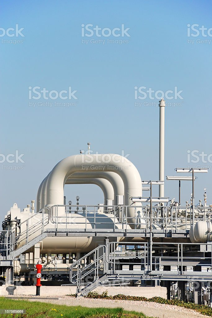 Compressor station stock photo