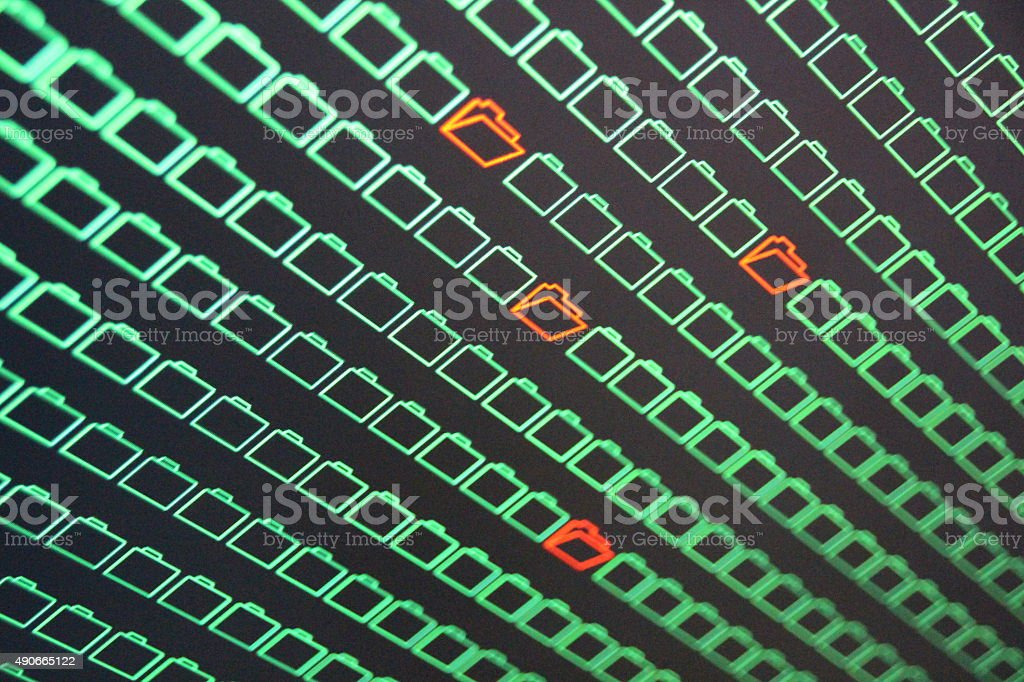Compromised Computer Data stock photo