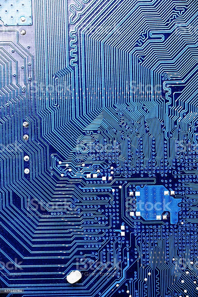 Comptuer circuit board close up stock photo