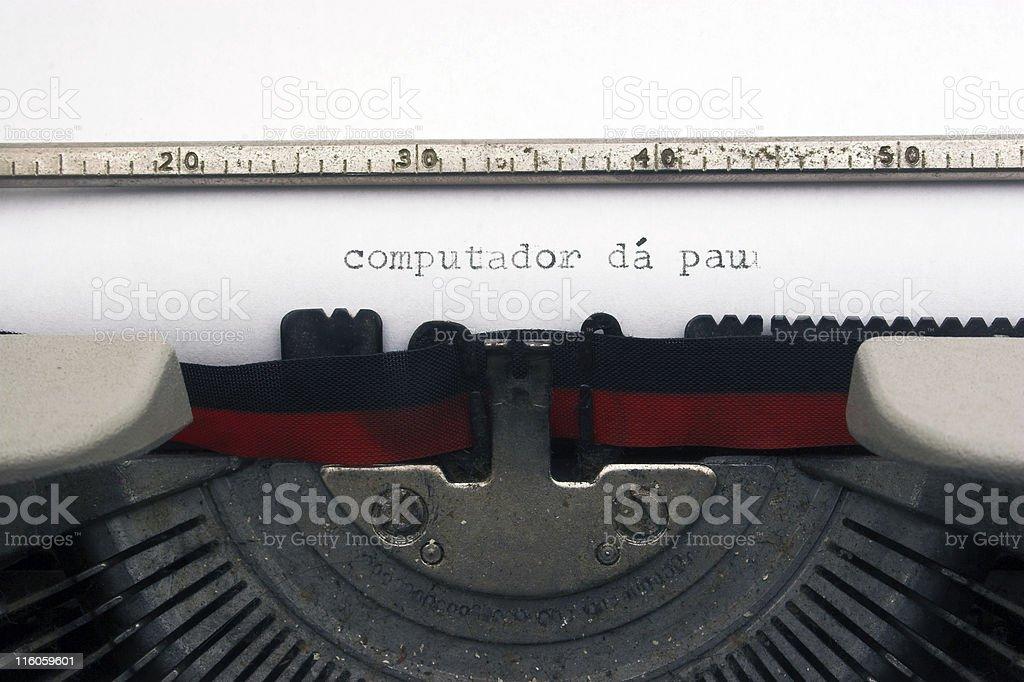 Computador dá pau royalty-free stock photo