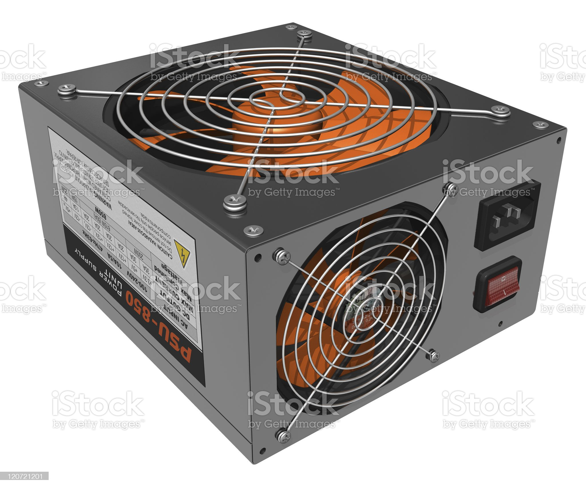 Computer AC power supply unit royalty-free stock photo