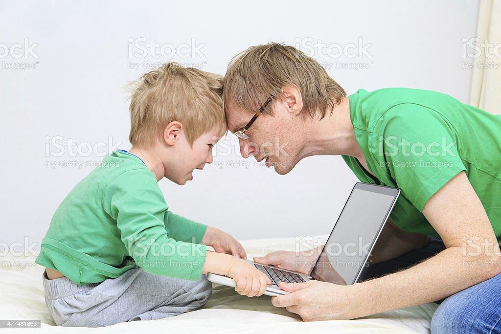 computer addiction royalty-free stock photo