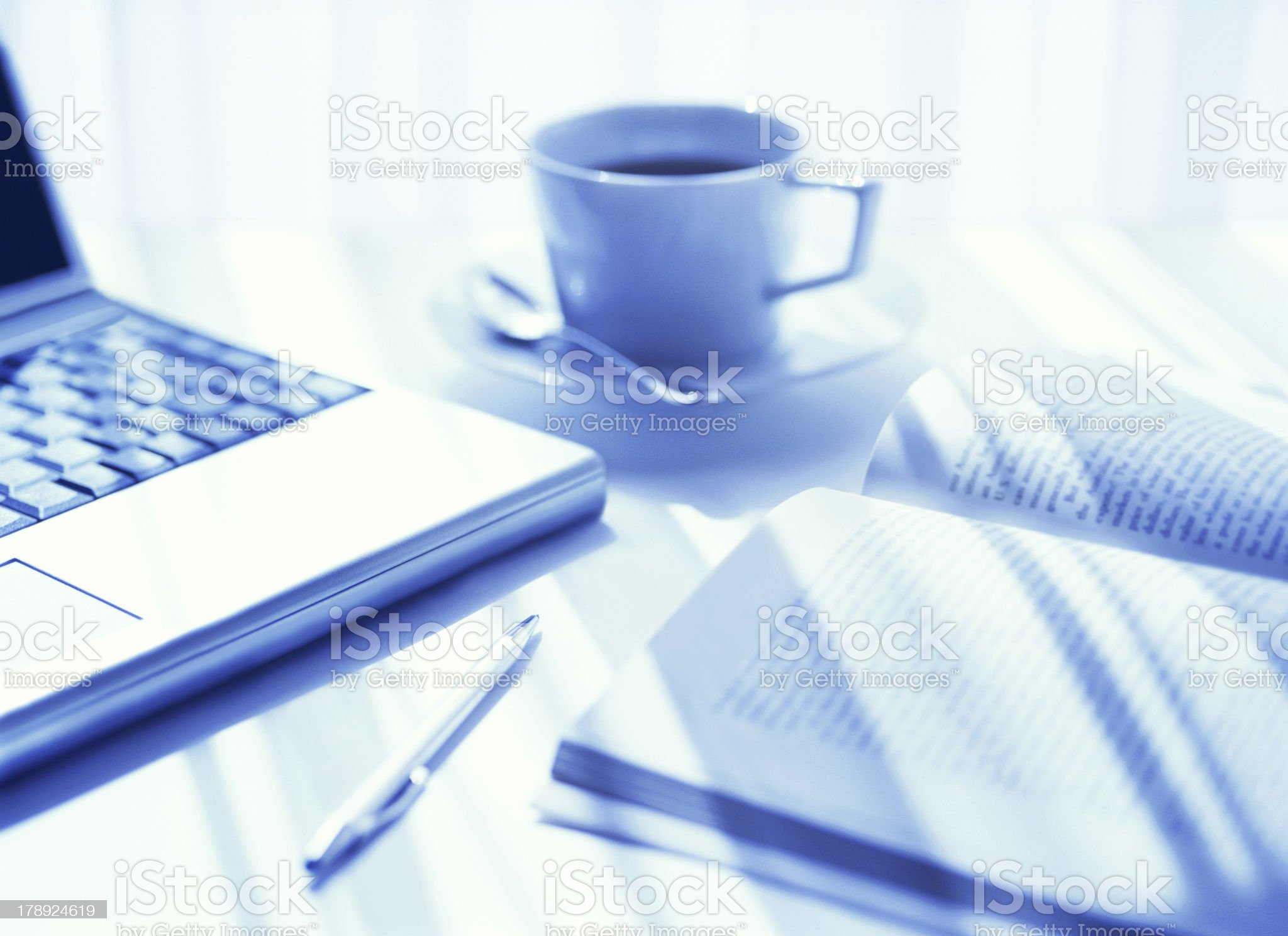 computer and book royalty-free stock photo