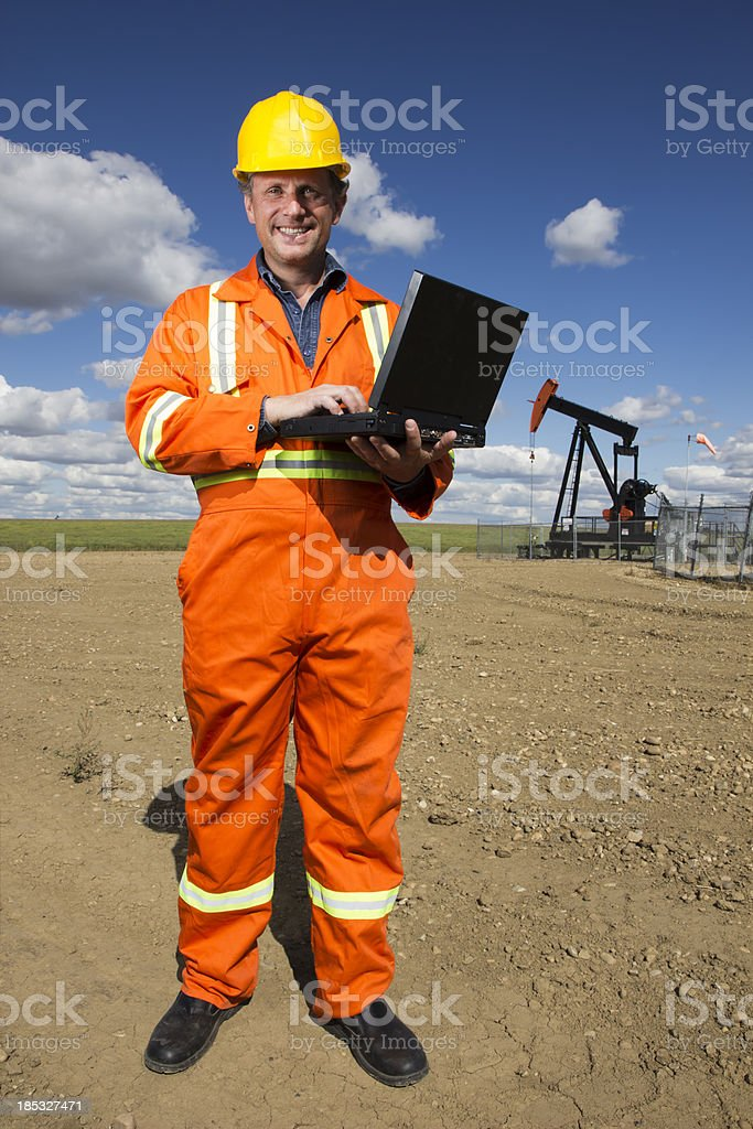 Computer and Oil royalty-free stock photo