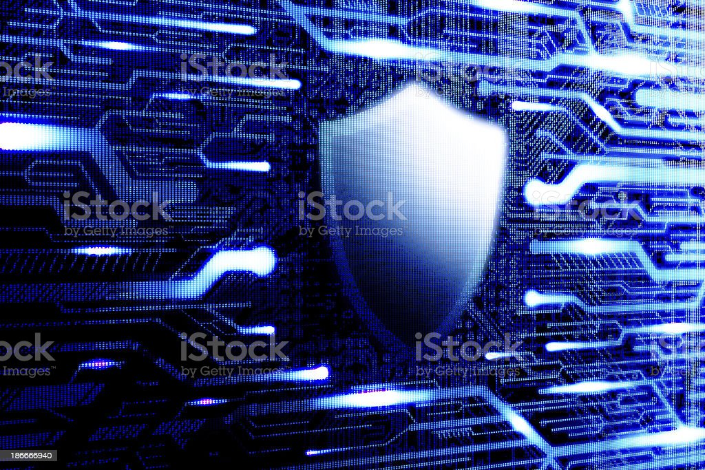 Computer antivirus internet protection stock photo