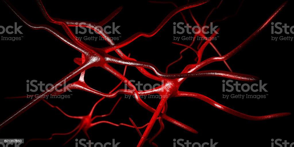 Computer artwork of nerve cells stock photo