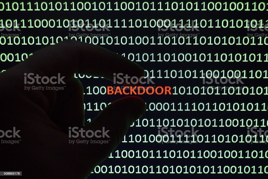 Computer Backdoor Malware stock photo