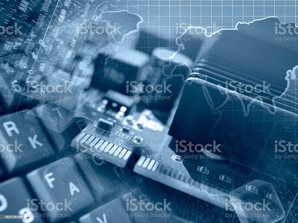 Computer background stock photo