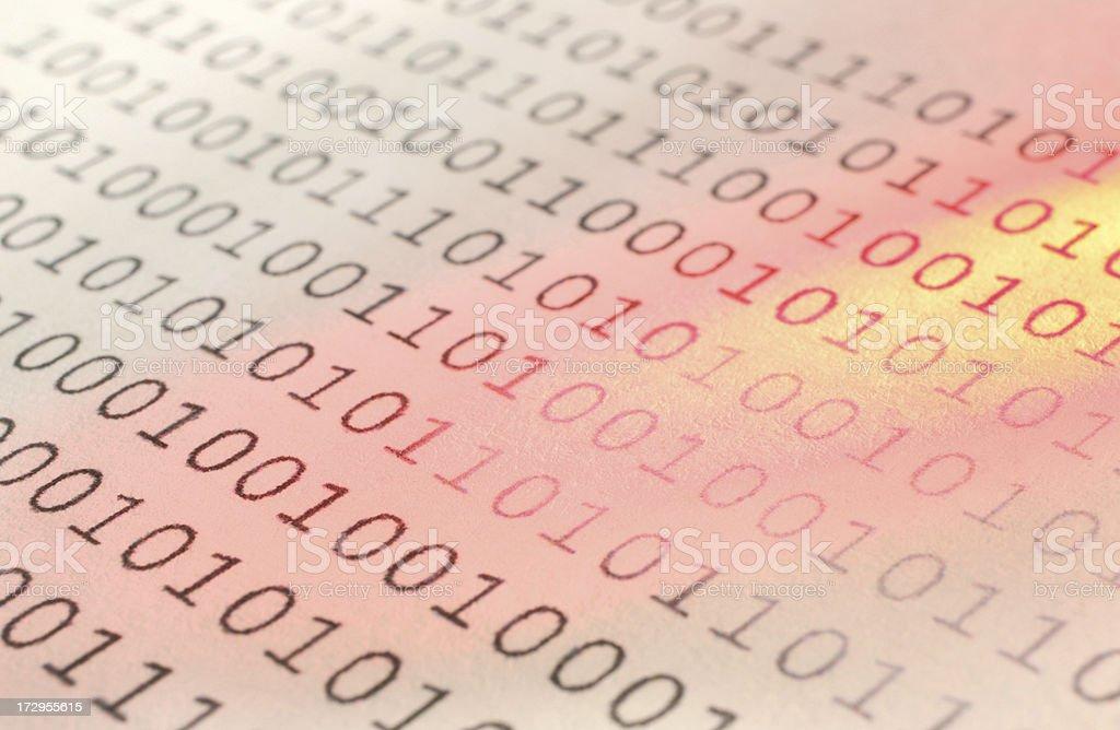 Computer Binary Digits royalty-free stock photo