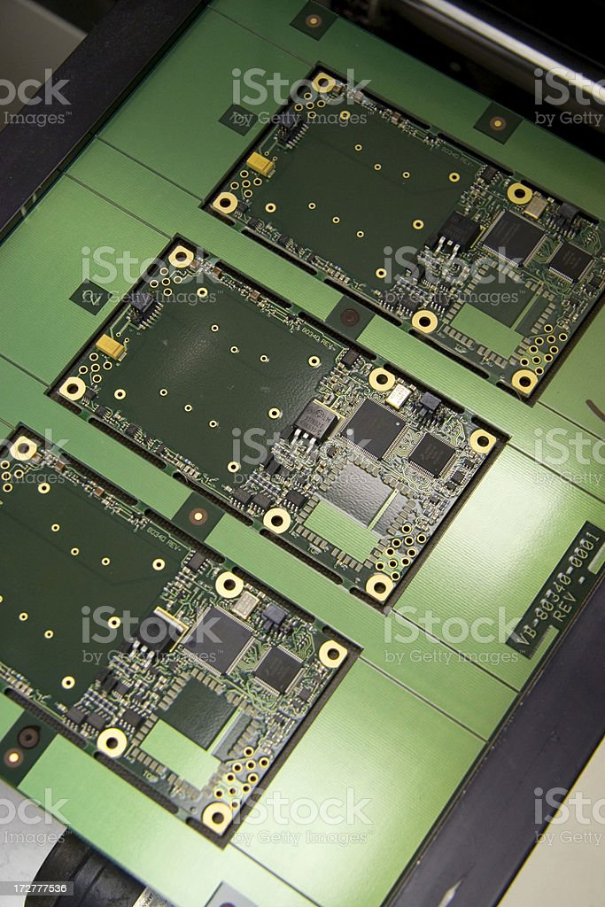 Computer Board Manufacturing stock photo