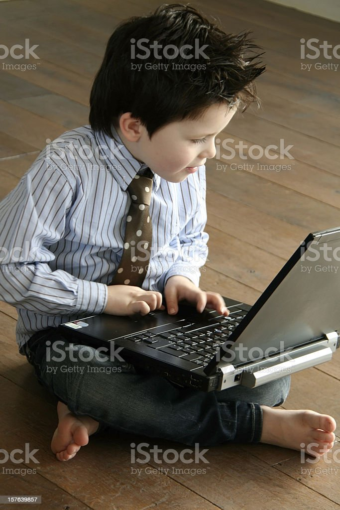 computer boy royalty-free stock photo
