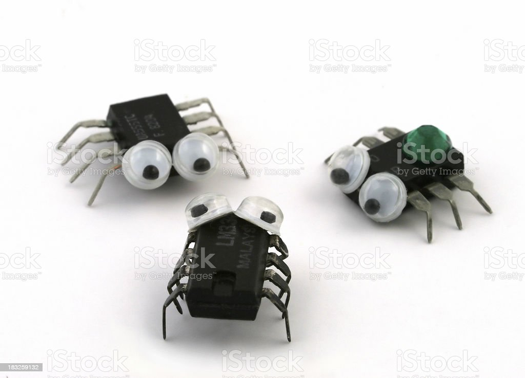 Computer Bugs stock photo