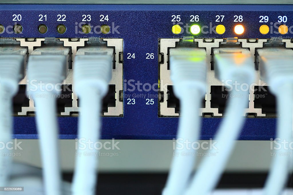 Computer Cable stock photo