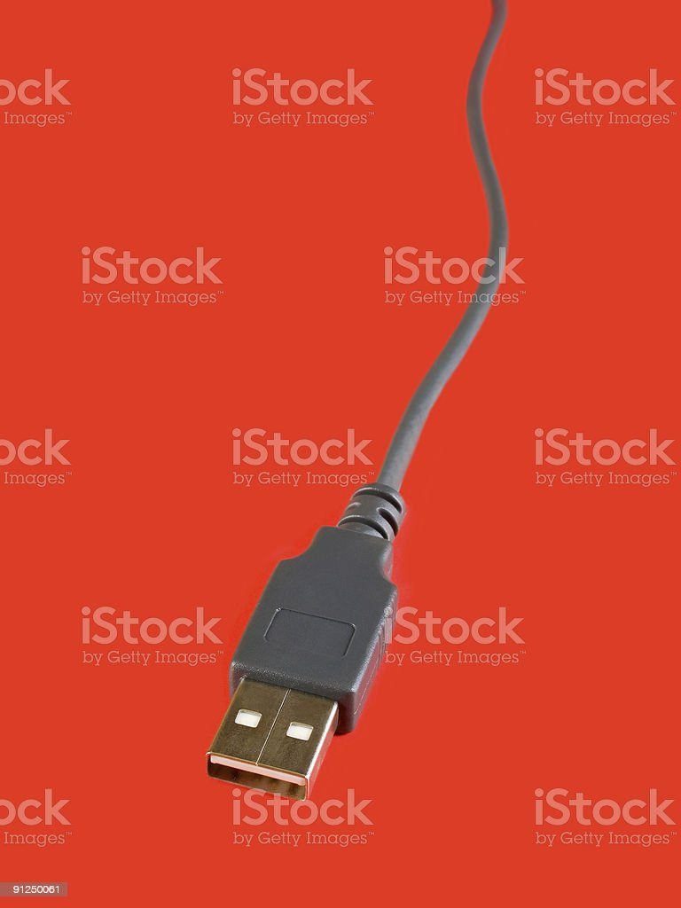 USB computer cable stock photo