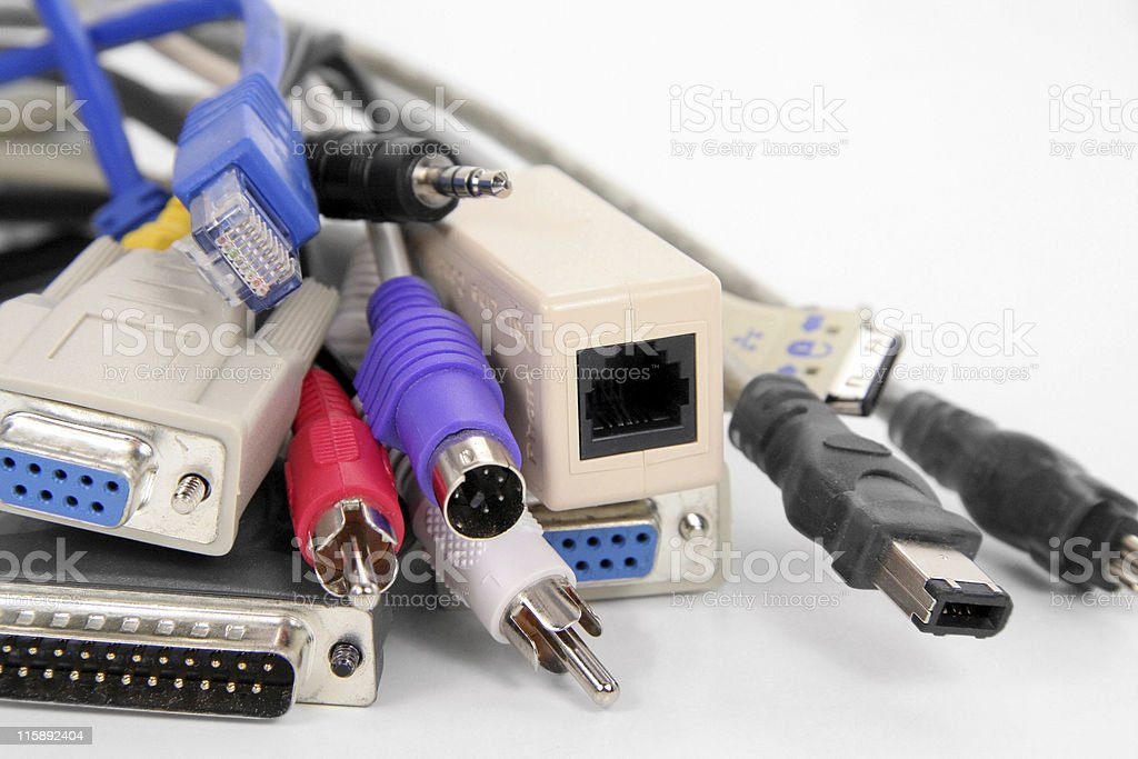 computer cables royalty-free stock photo