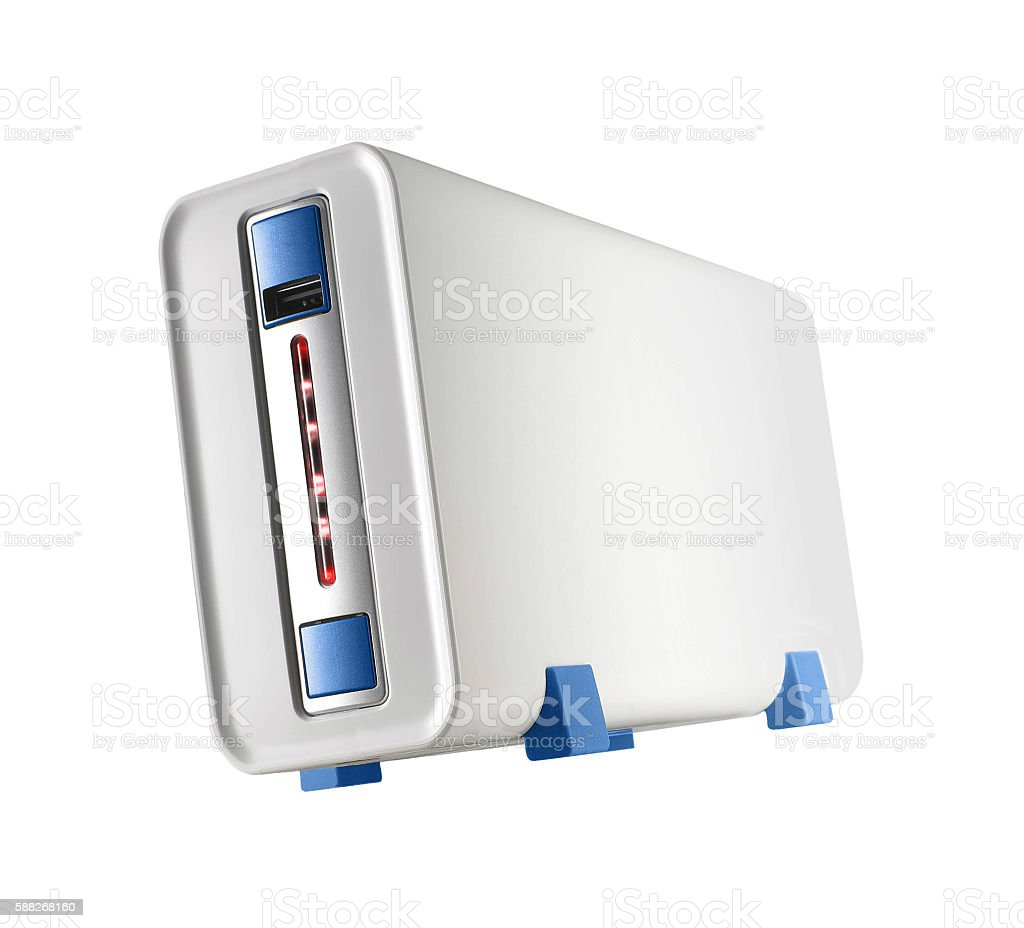 computer case, photo on the white background stock photo