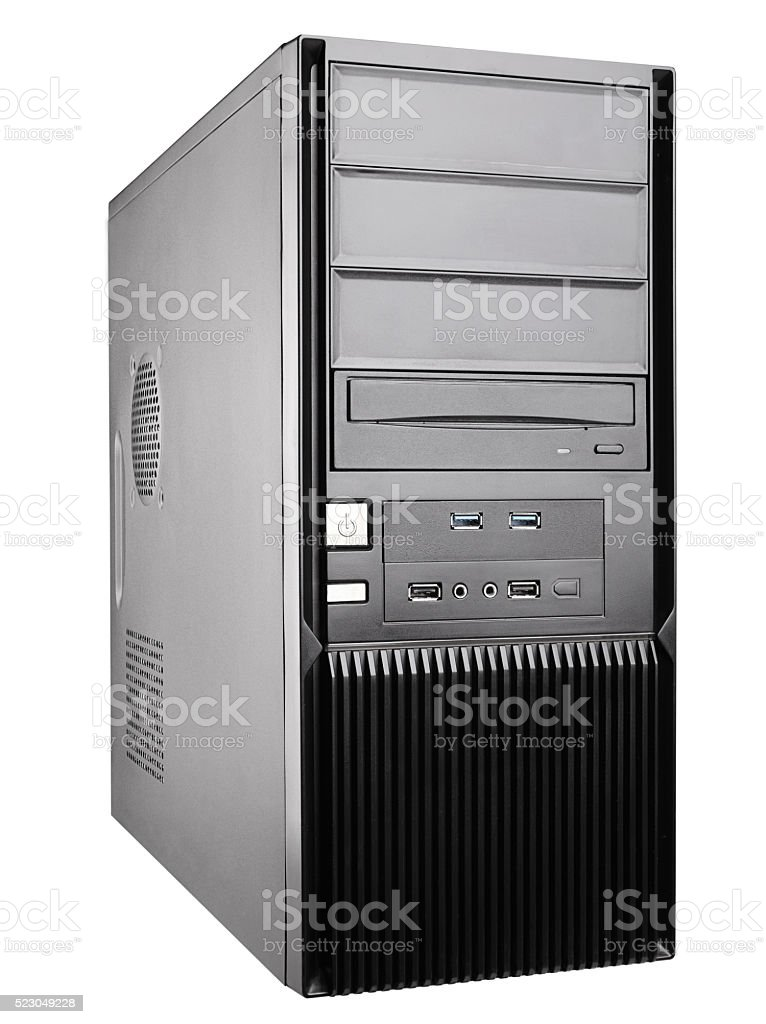 computer case stock photo