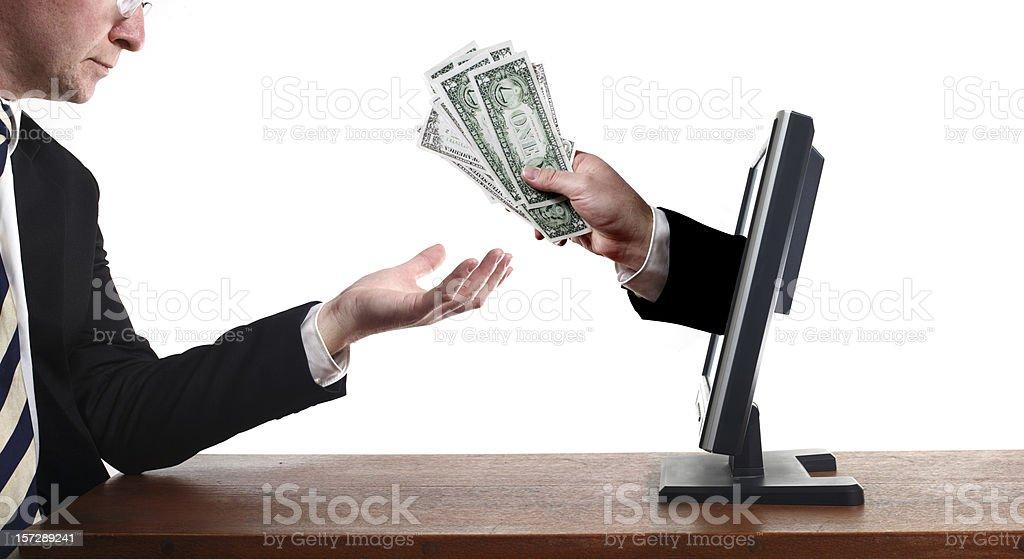Computer Cash royalty-free stock photo