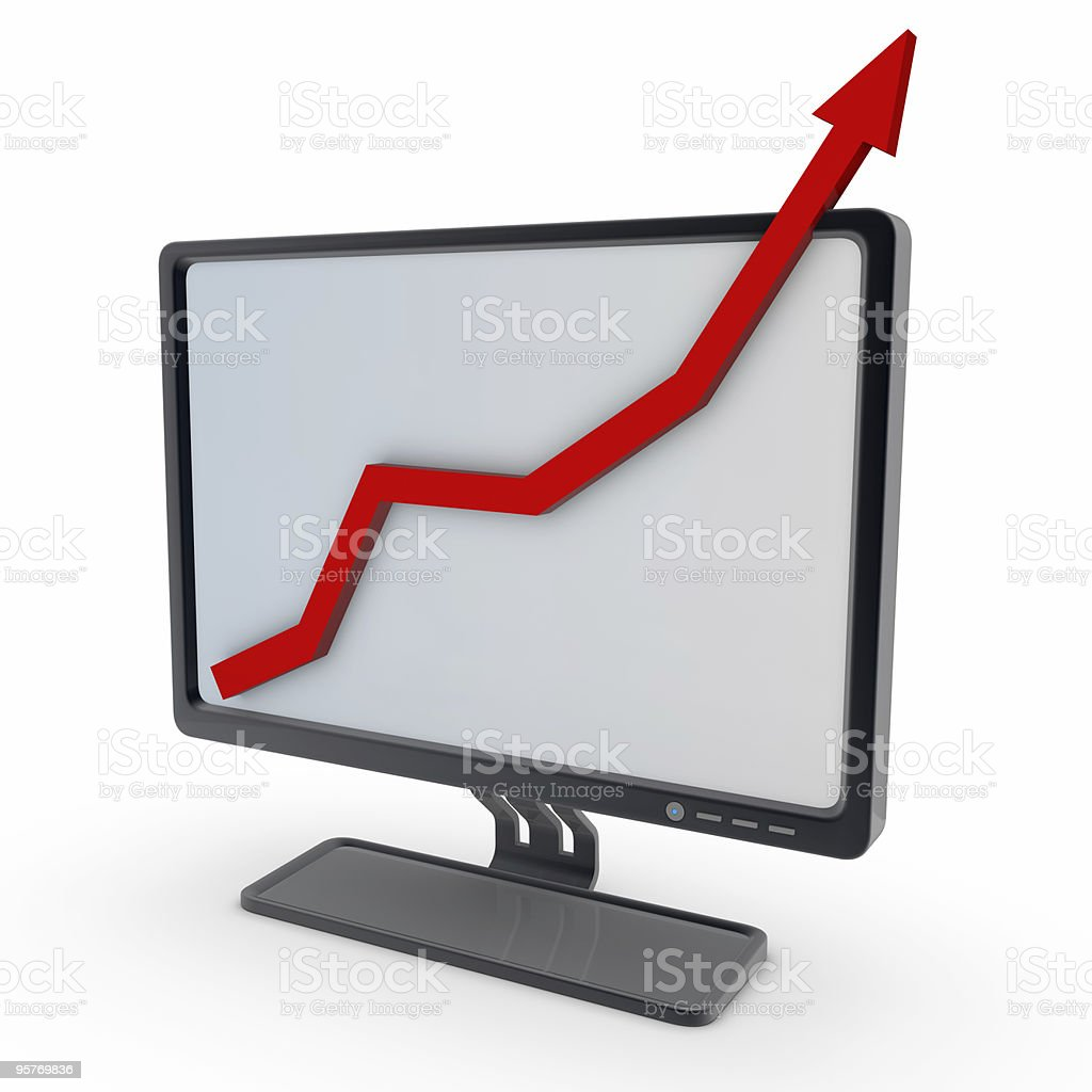 computer chart screen royalty-free stock photo