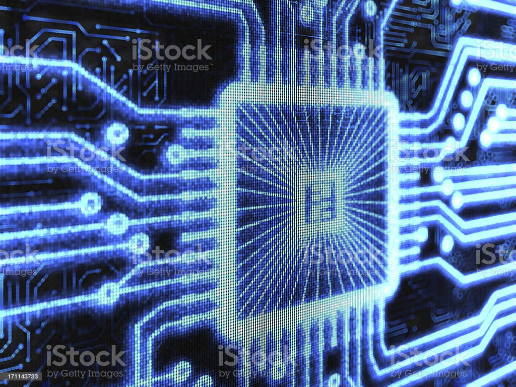 Computer Chip background royalty-free stock photo