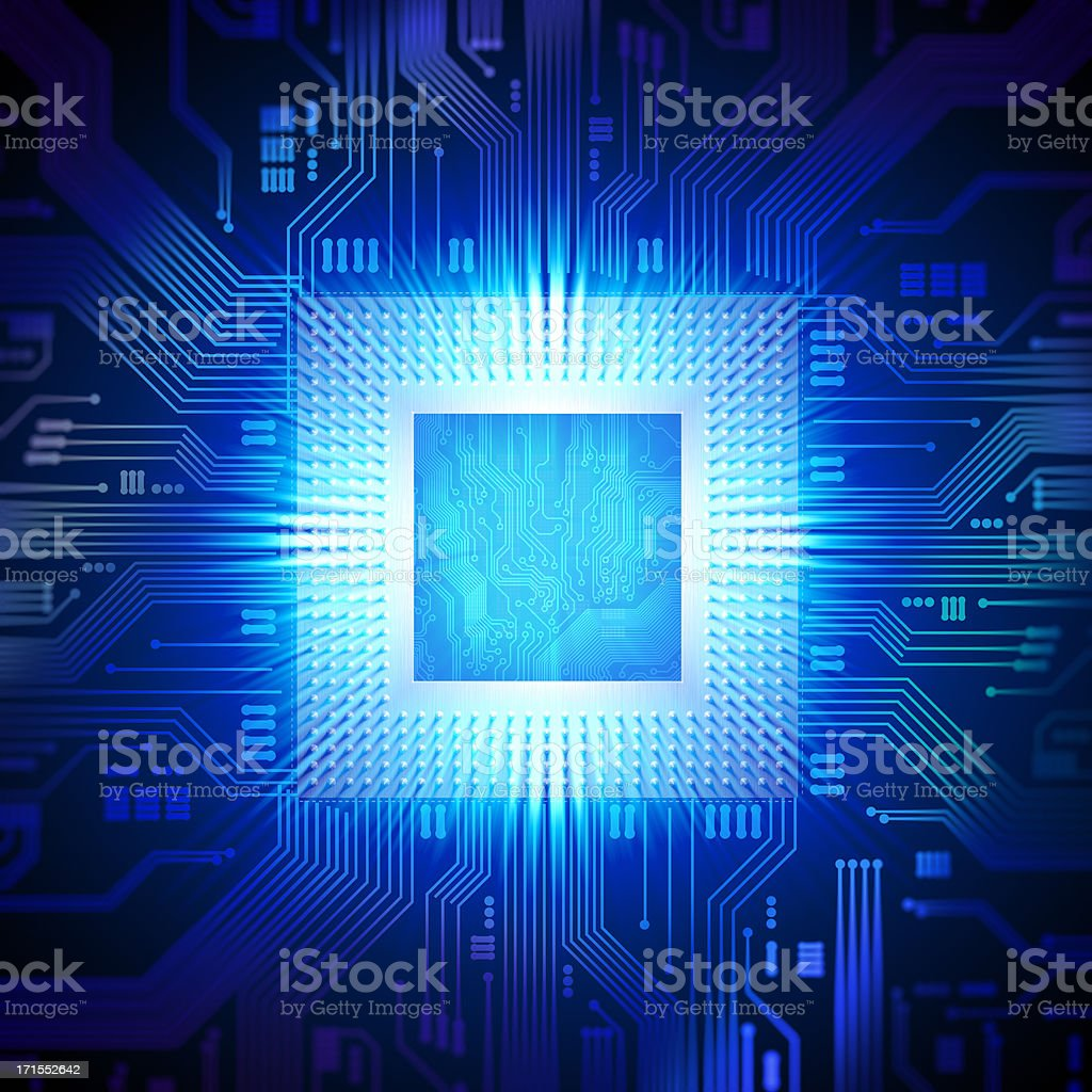 Computer chip / CPU concept stock photo