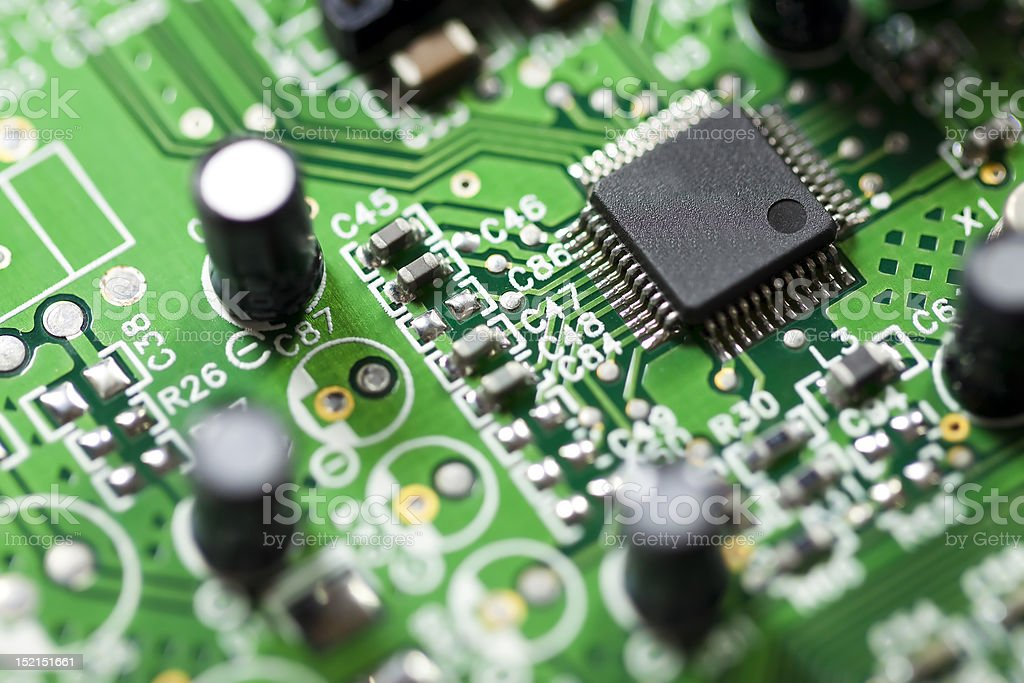 Computer chip stock photo