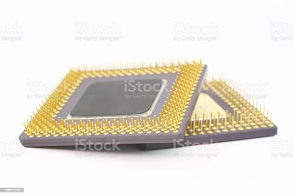 Computer chips royalty-free stock photo