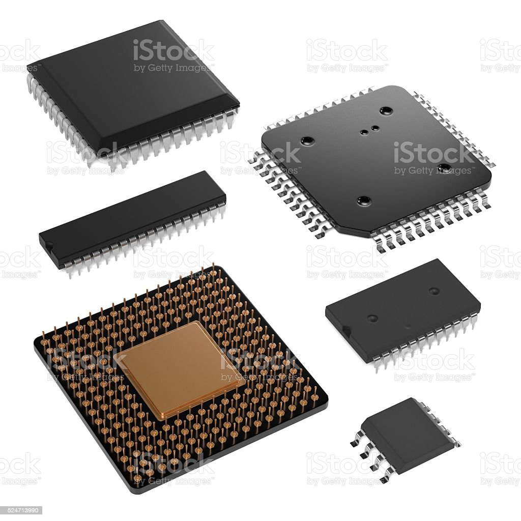 computer chips stock photo