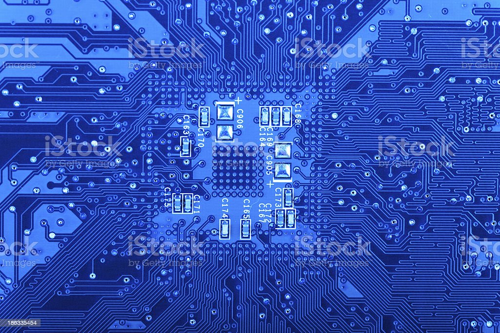Computer Circuit Board stock photo