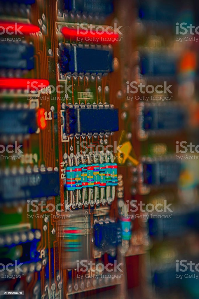 Computer -Circuit Board stock photo