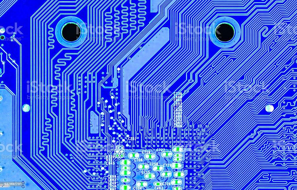 Computer circuit board stock photo