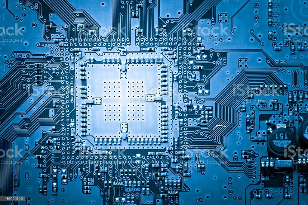 Computer circuit board, web design background stock photo