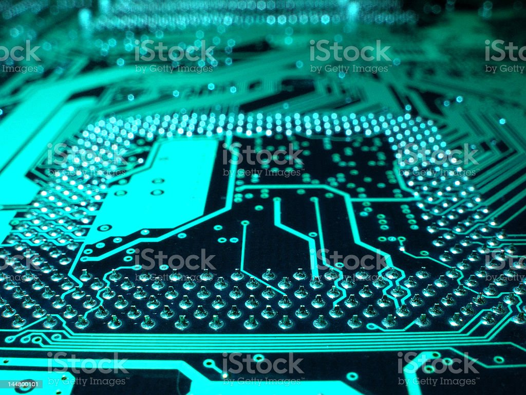 Computer circuit motherboard royalty-free stock photo