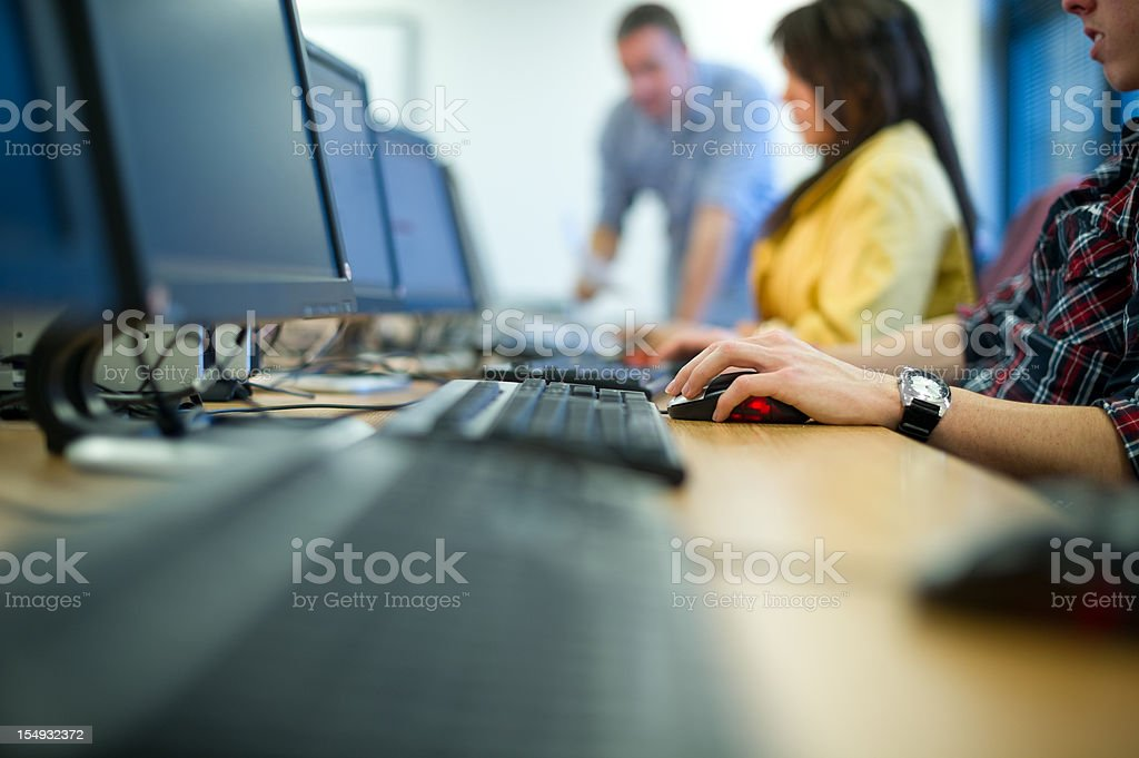 computer class stock photo