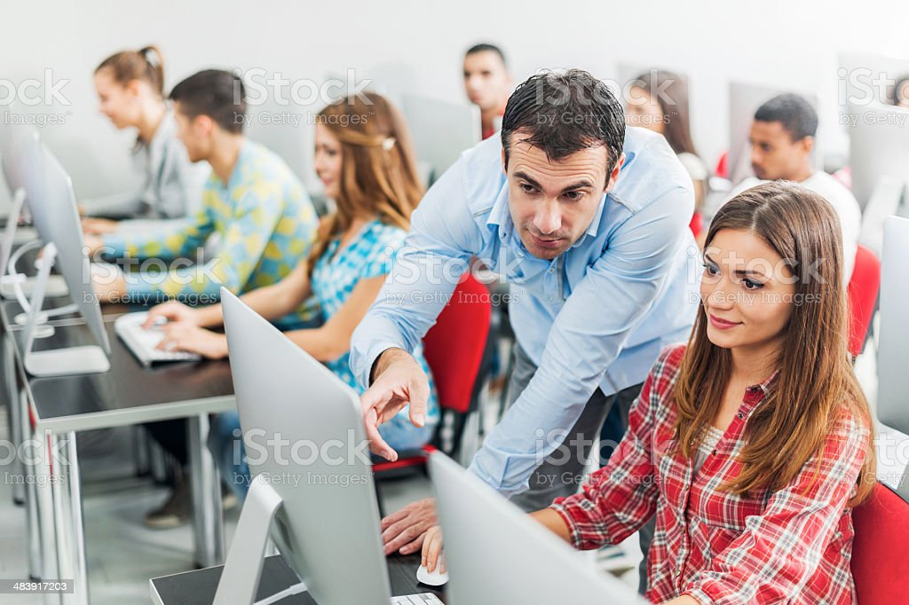 Computer class. royalty-free stock photo