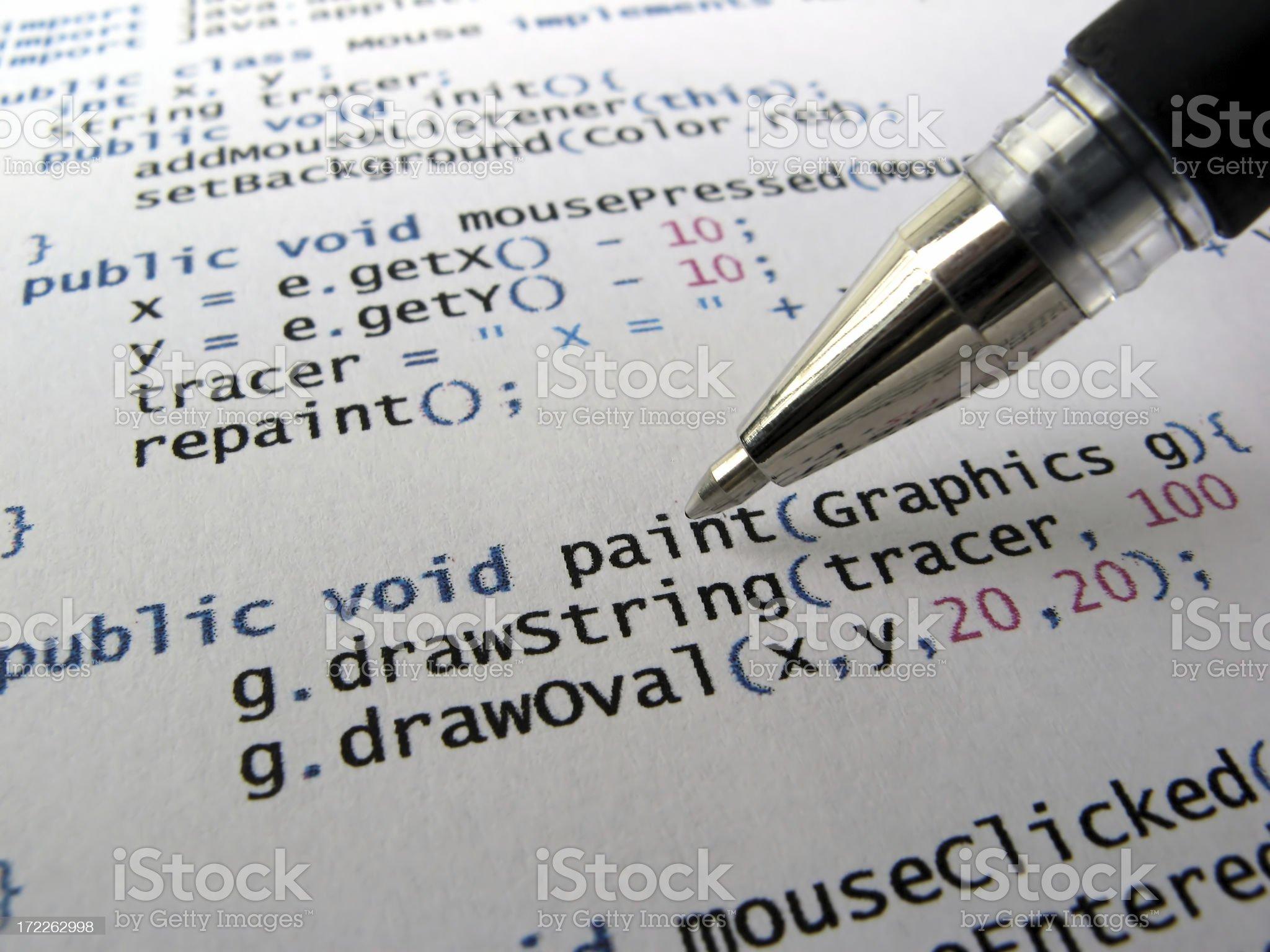 Computer code royalty-free stock photo