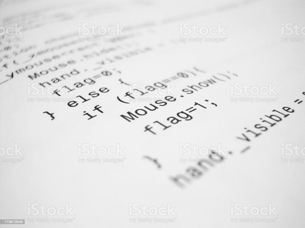 computer code stock photo