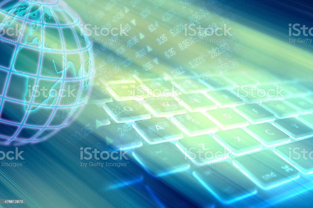 Computer communication stock photo