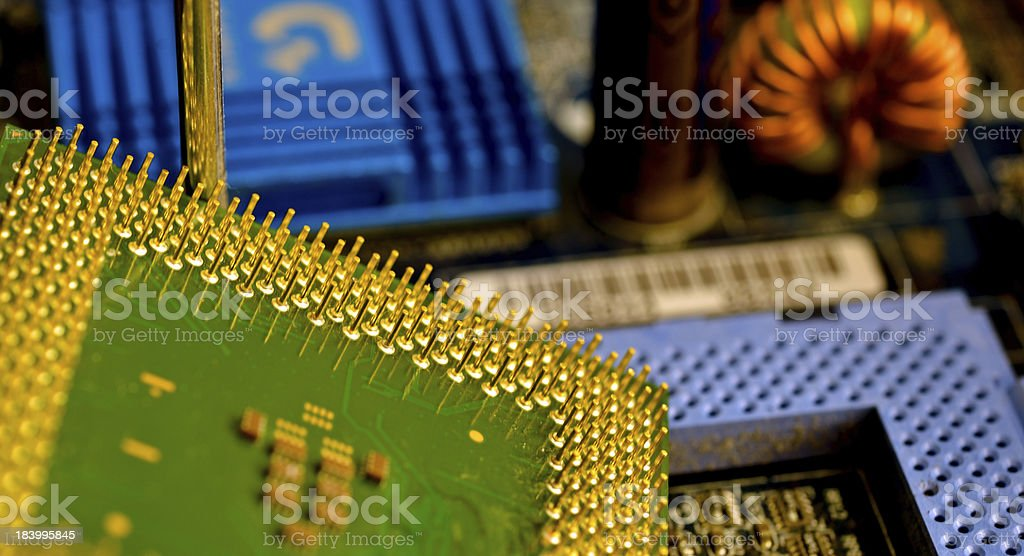 Computer components retro royalty-free stock photo