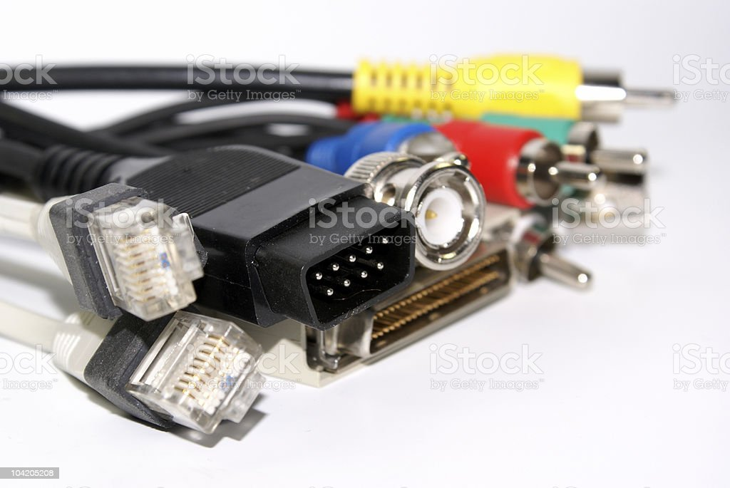 Computer connectors royalty-free stock photo
