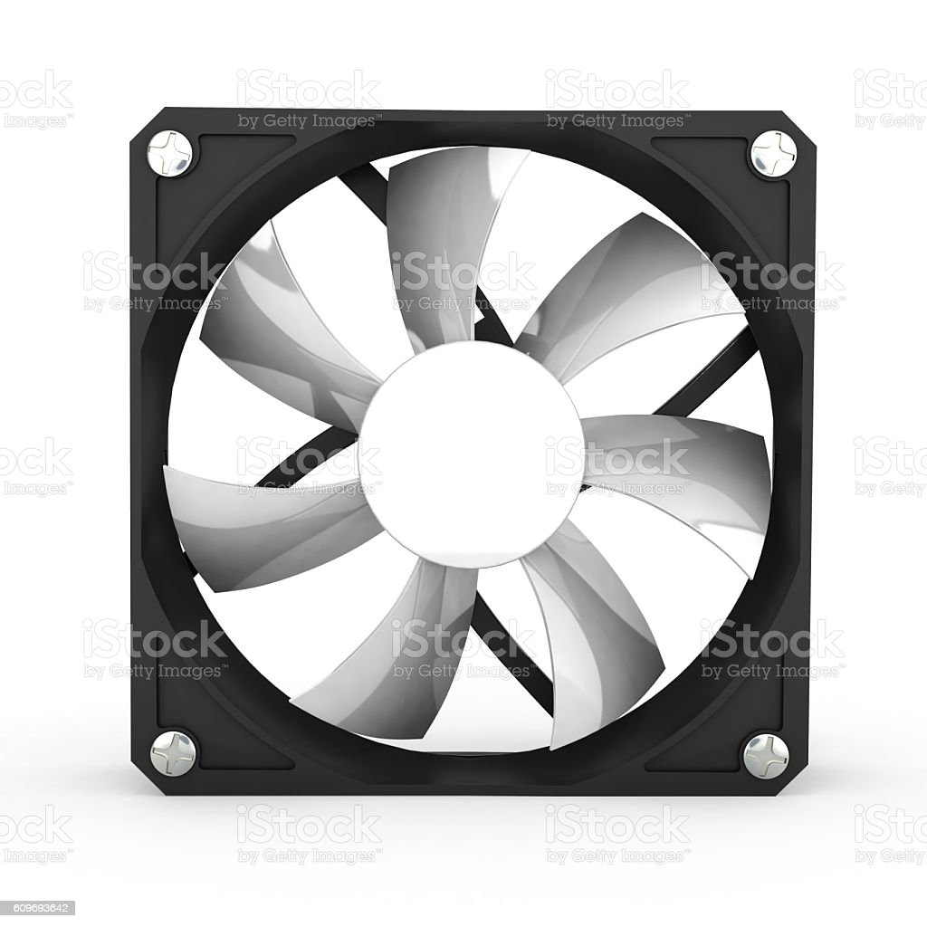 computer cooler isolated on white background 3d illustration vector art illustration