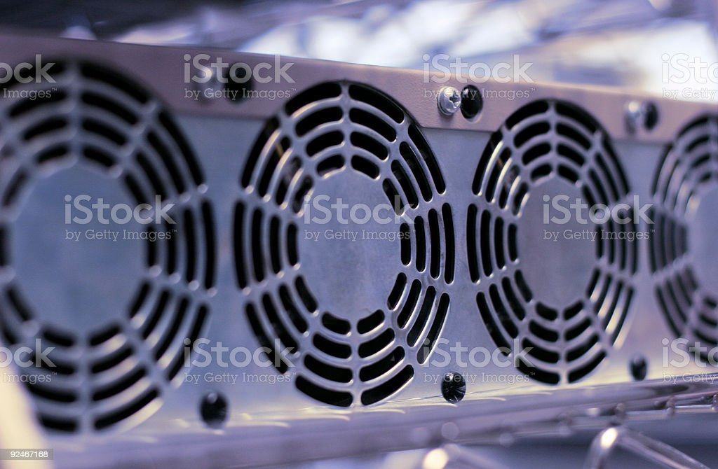 Computer Cooloing Fans stock photo