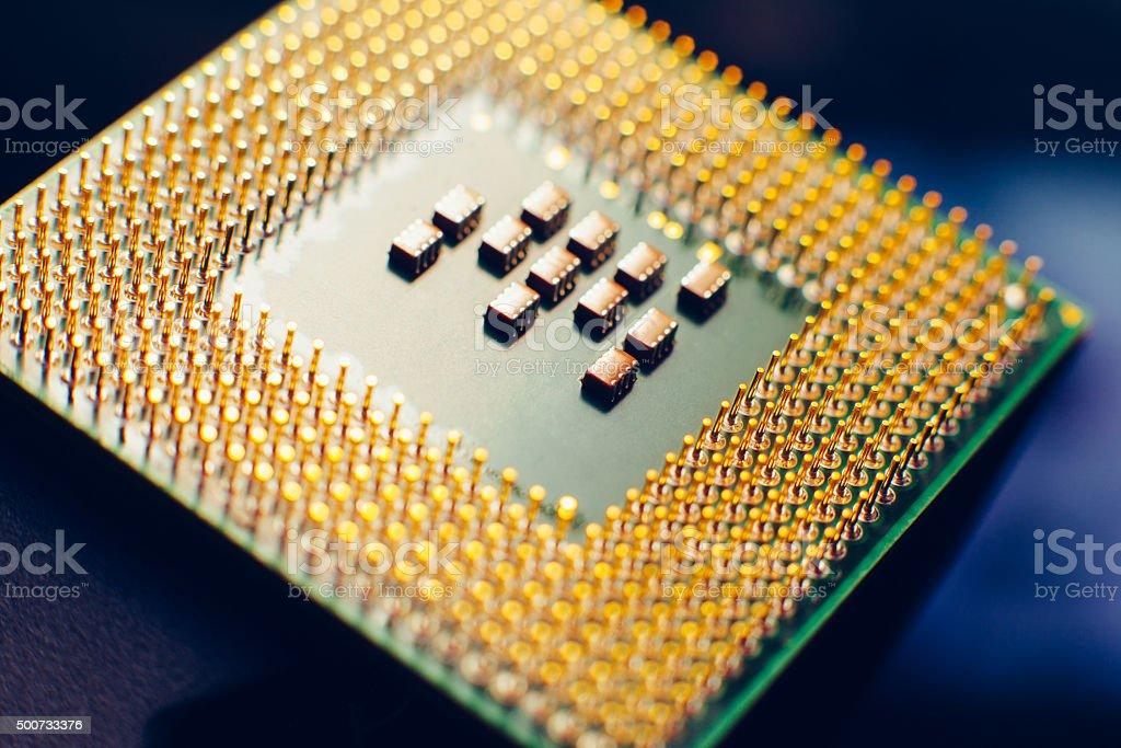 Computer cpu (central processor unit). Closeup stock photo