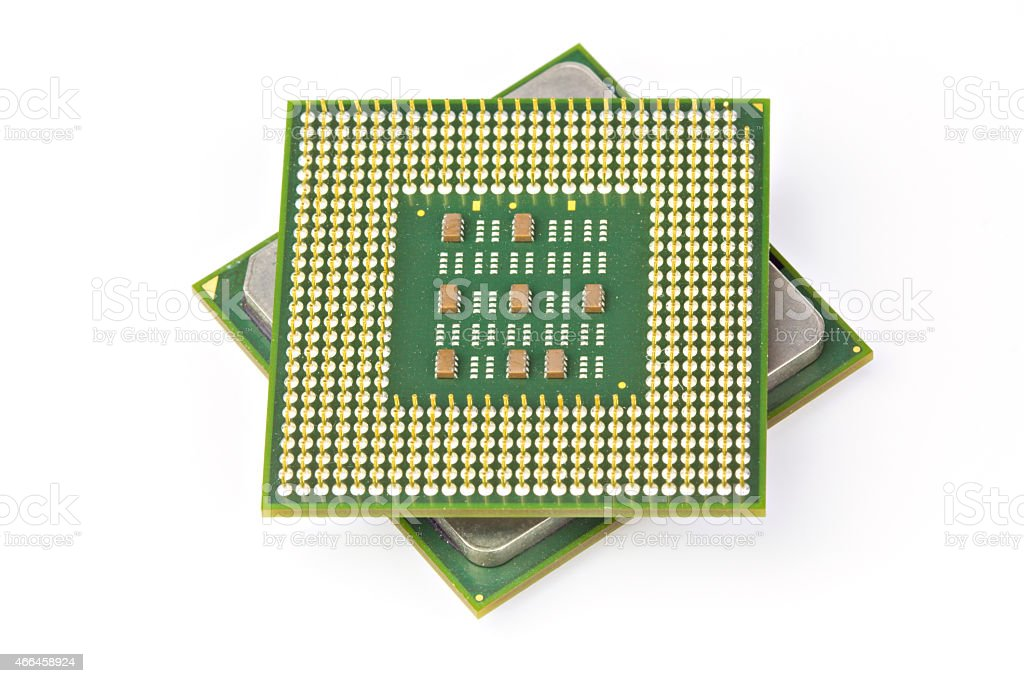 Computer CPU Processor Chip royalty-free stock photo