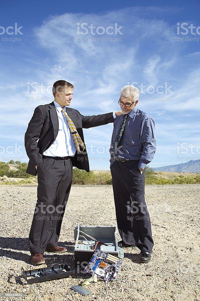 Computer Crash stock photo