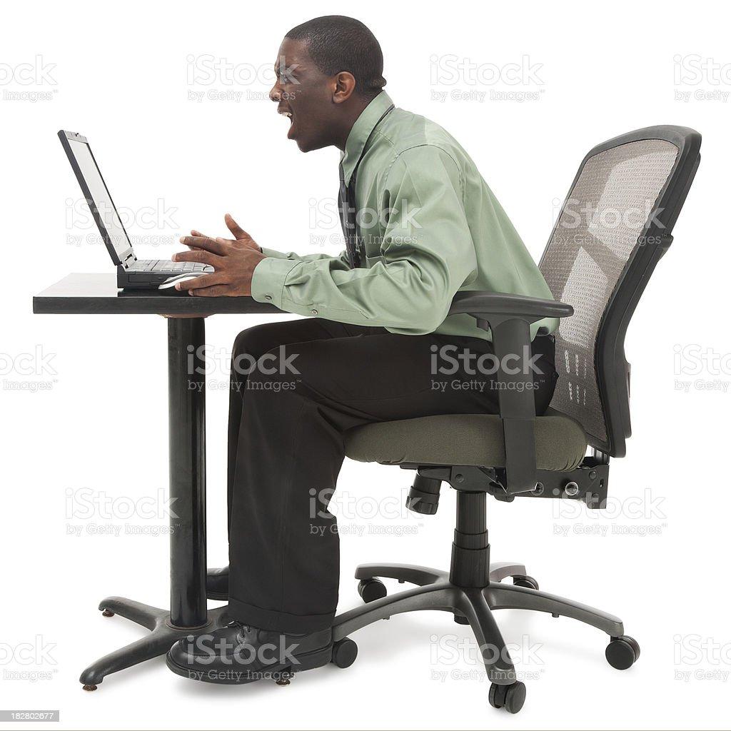 Computer Crash royalty-free stock photo