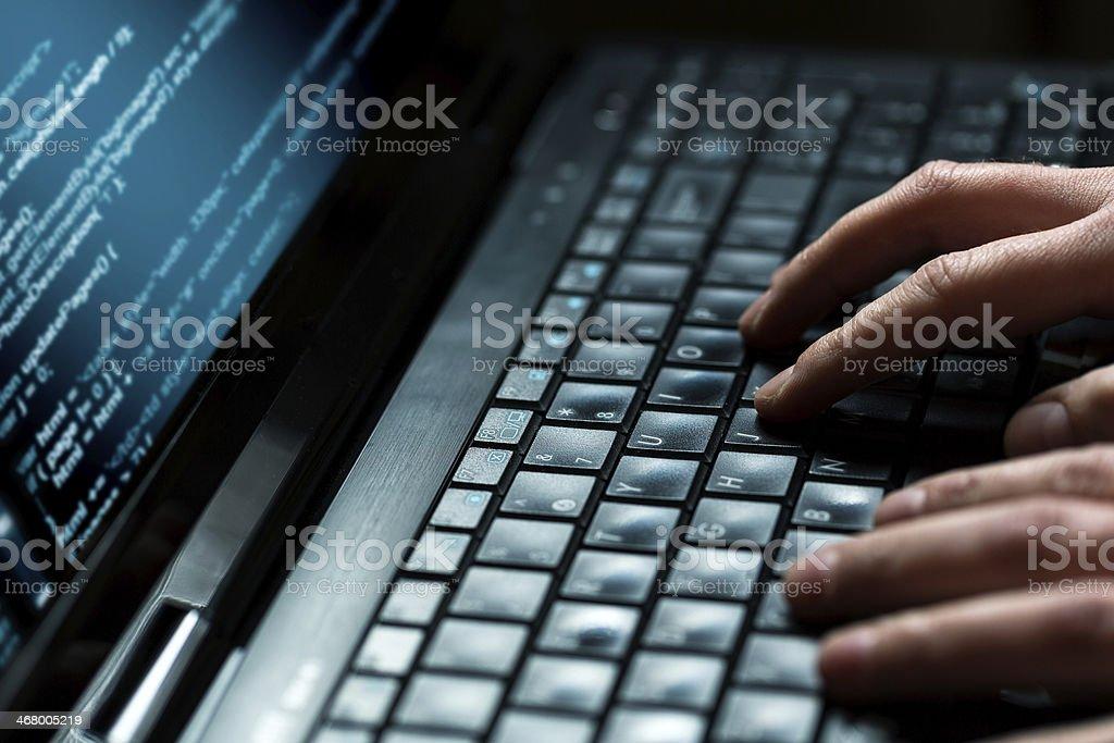 Computer crime concept royalty-free stock photo