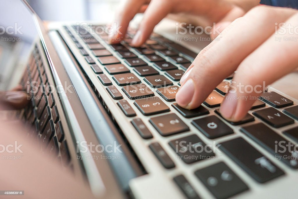 Computer crime concept stock photo