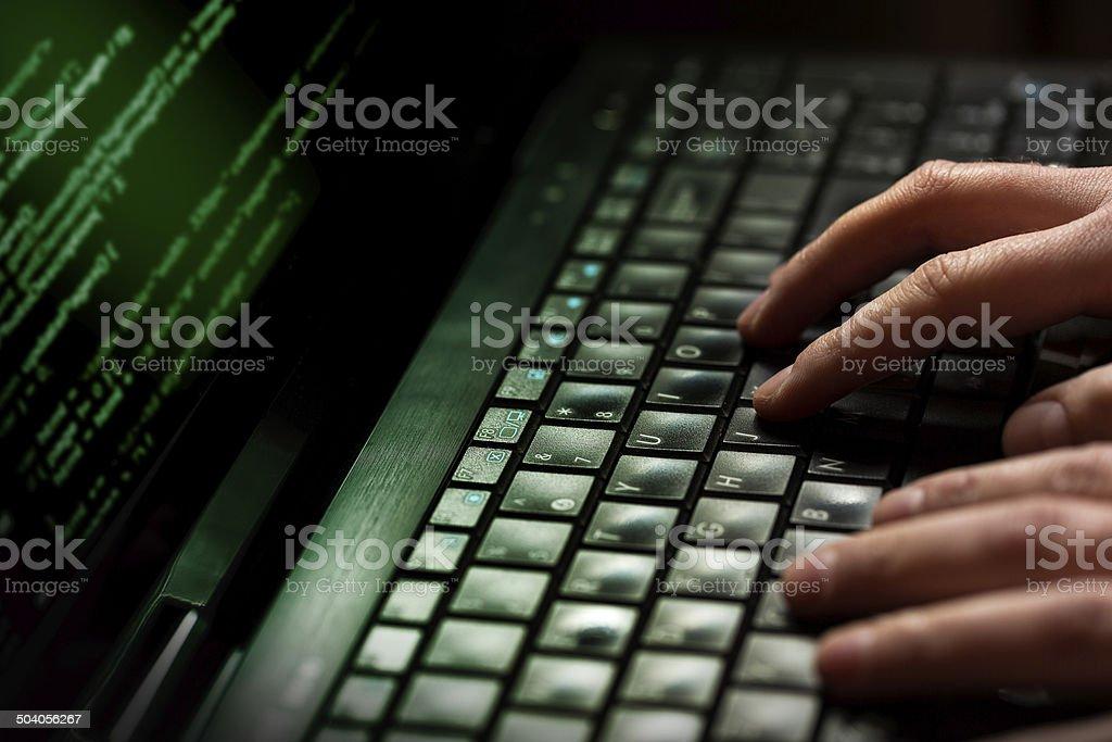 Computer crime concept stock photo